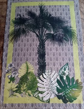 "Palm tree"" tea towel"