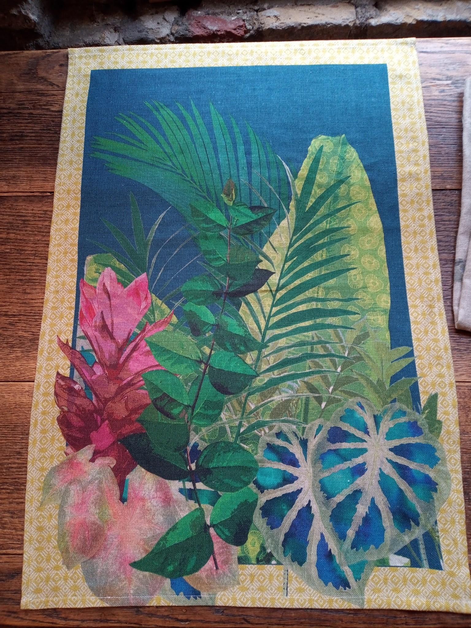 Tropical tea towel