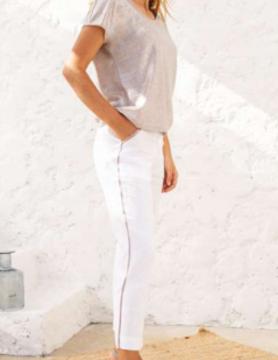 Maloka Pantalon posey blanc