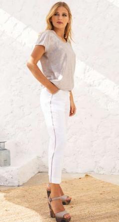 Maloka White posey trousers