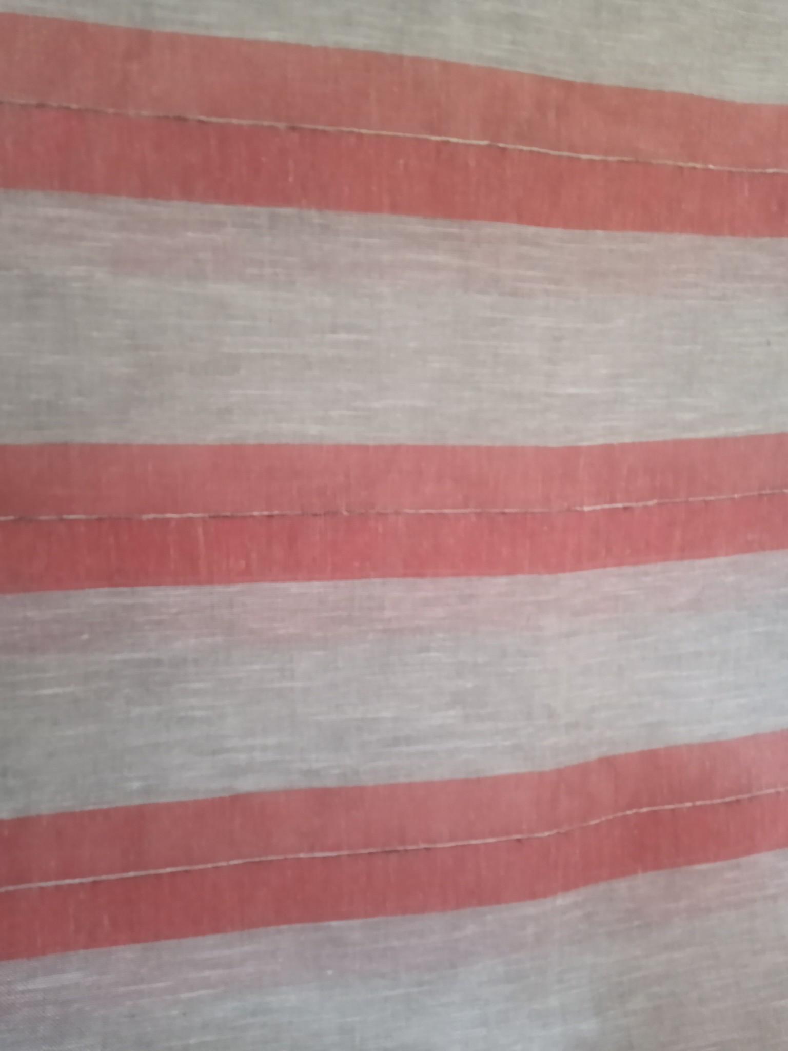 Ecru and orange striped curtain