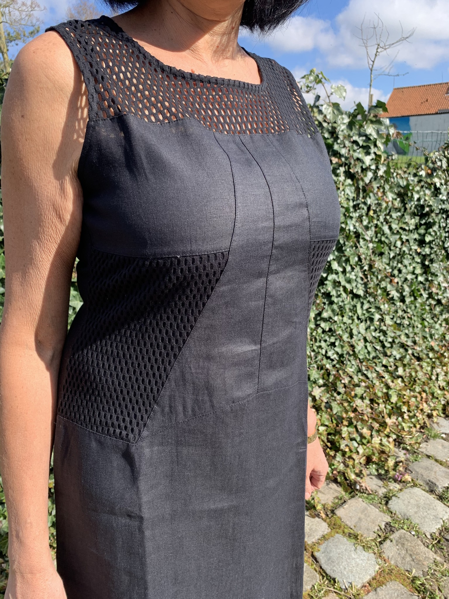 Maloka Zwarte rieten jurk
