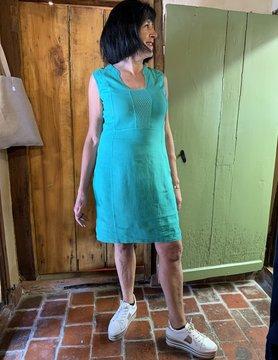 Maloka Celadon groene robijn jurk