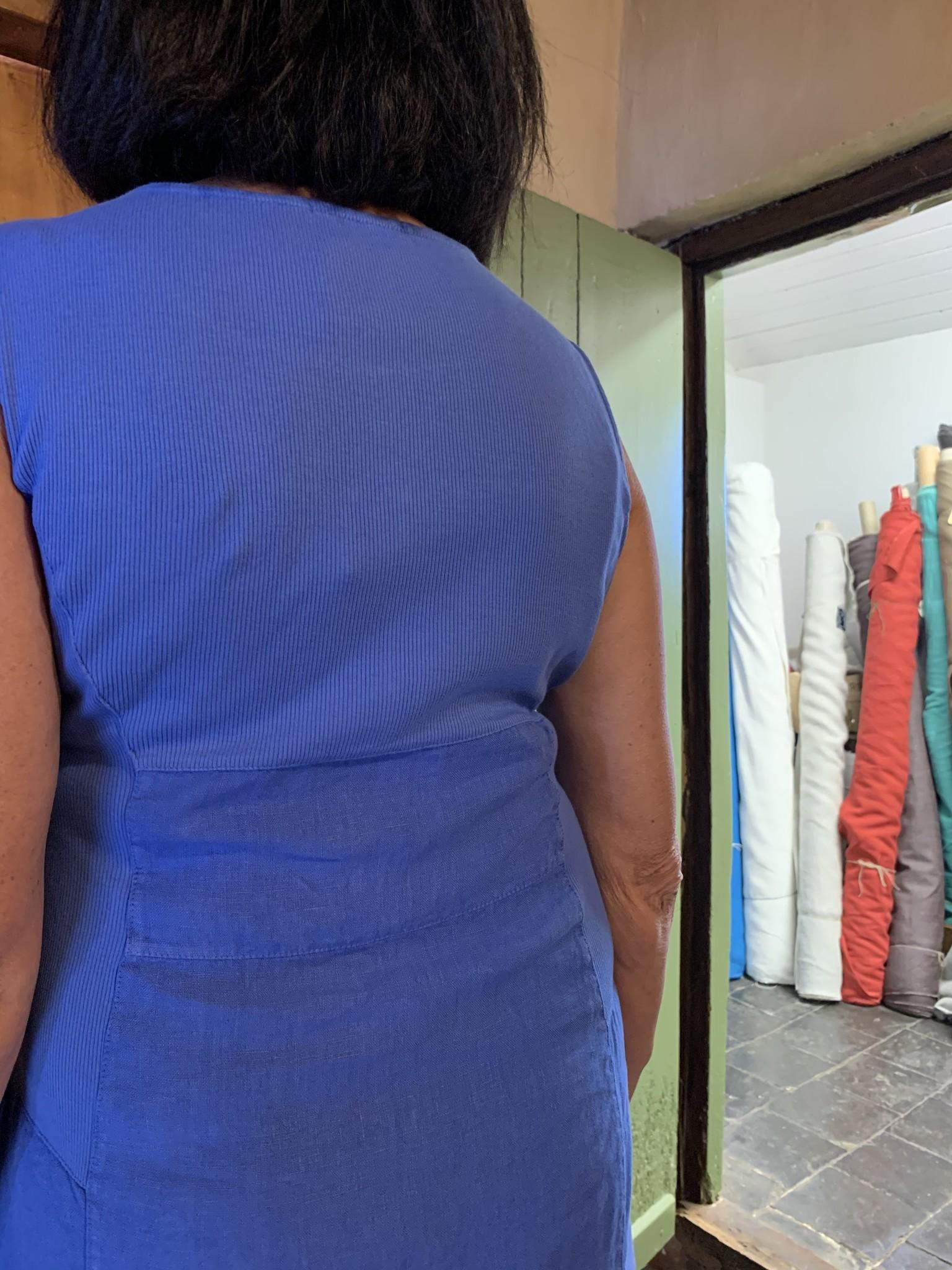 Maloka Korenbloem riet jurk