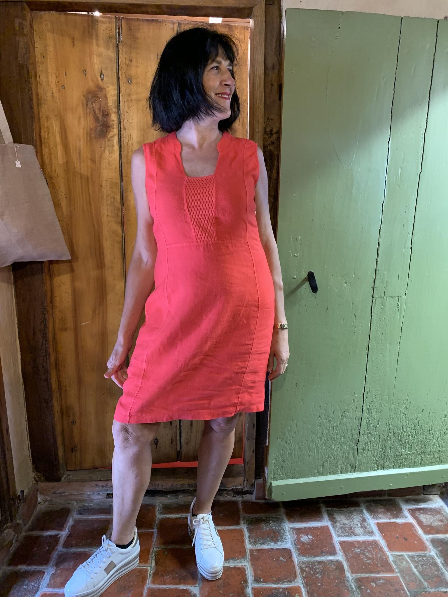 Maloka Ruby poppy jurk