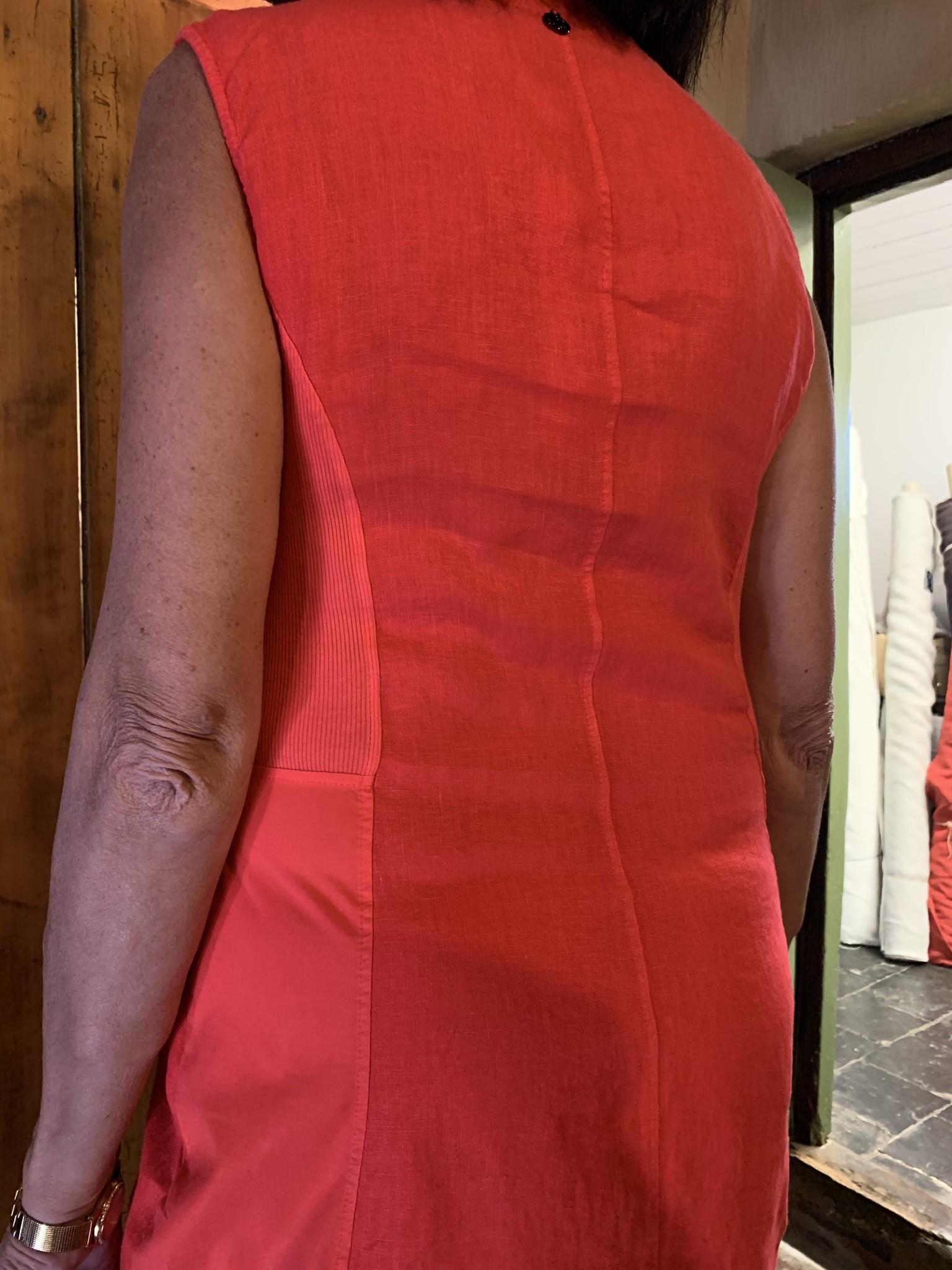 Maloka Robe ruby coquelicot