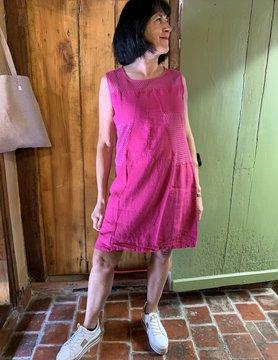 Maloka Fuchsia rieten jurk