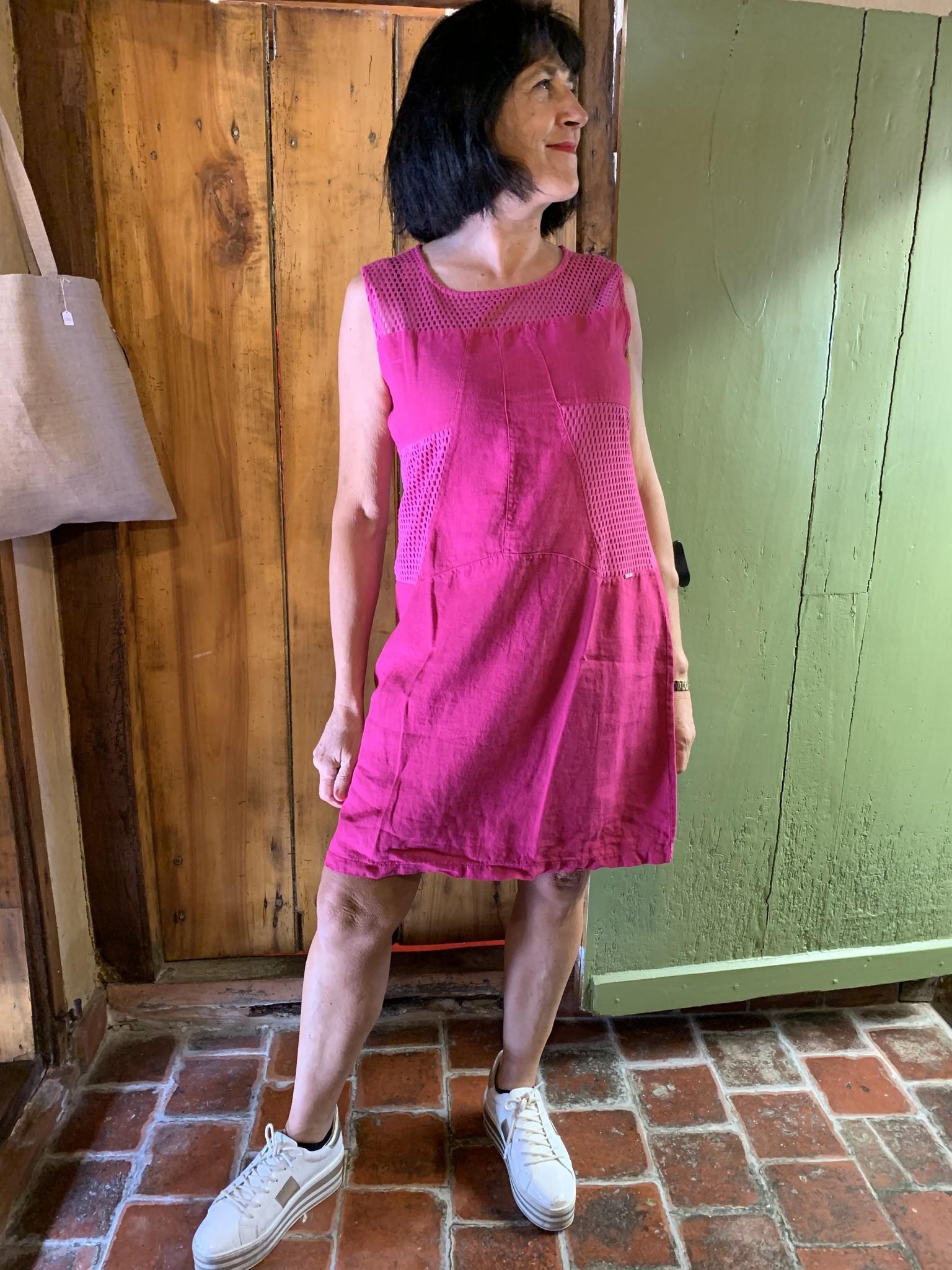Maloka Fuchsia reed dress
