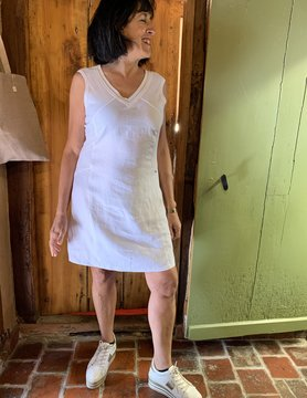 Maloka White raena dress