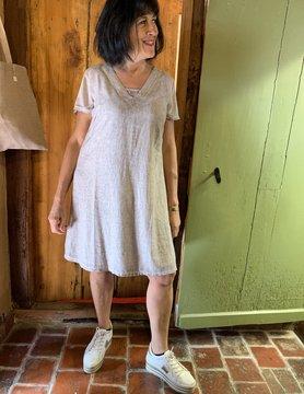 Maloka Taupe trixie jurk
