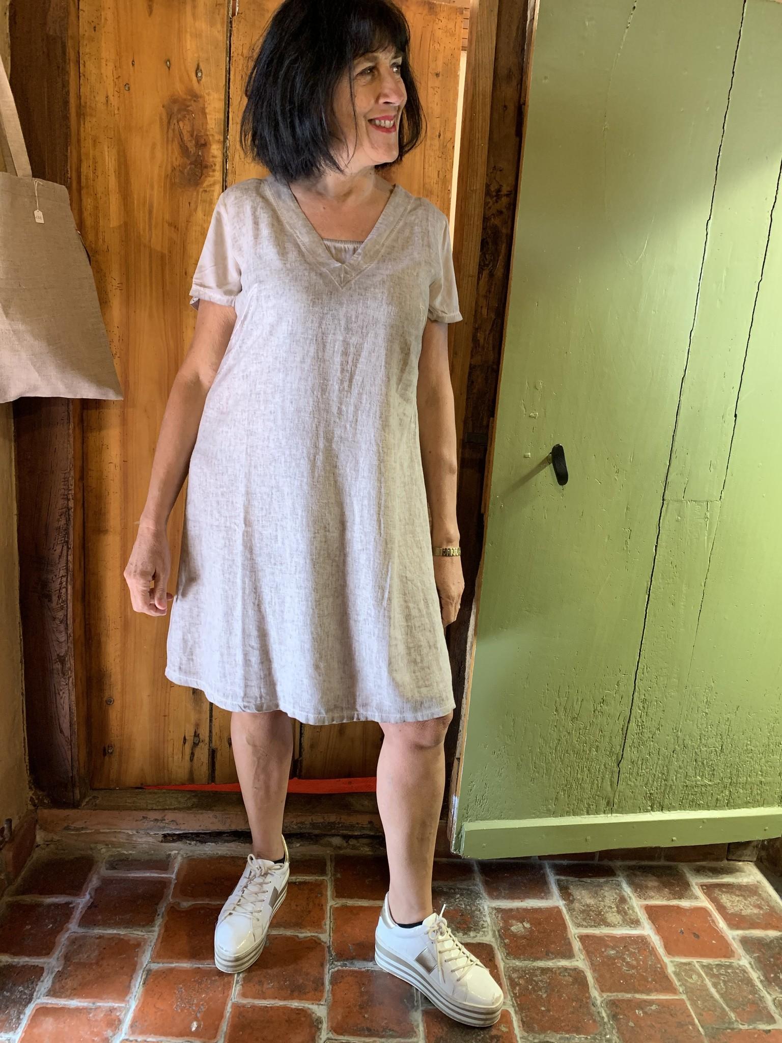 Maloka Taupe trixie dress