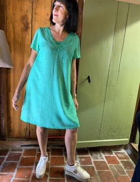 Maloka Robe trixie vert celadon