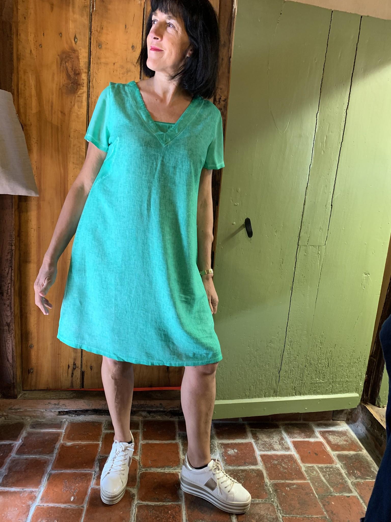 Maloka Celadon groene trixie jurk