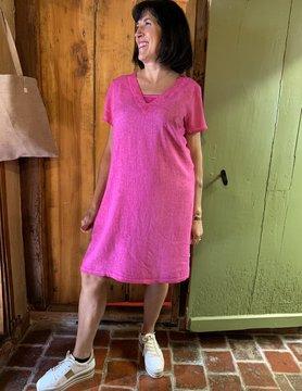 Maloka Fuchsia trixie jurk