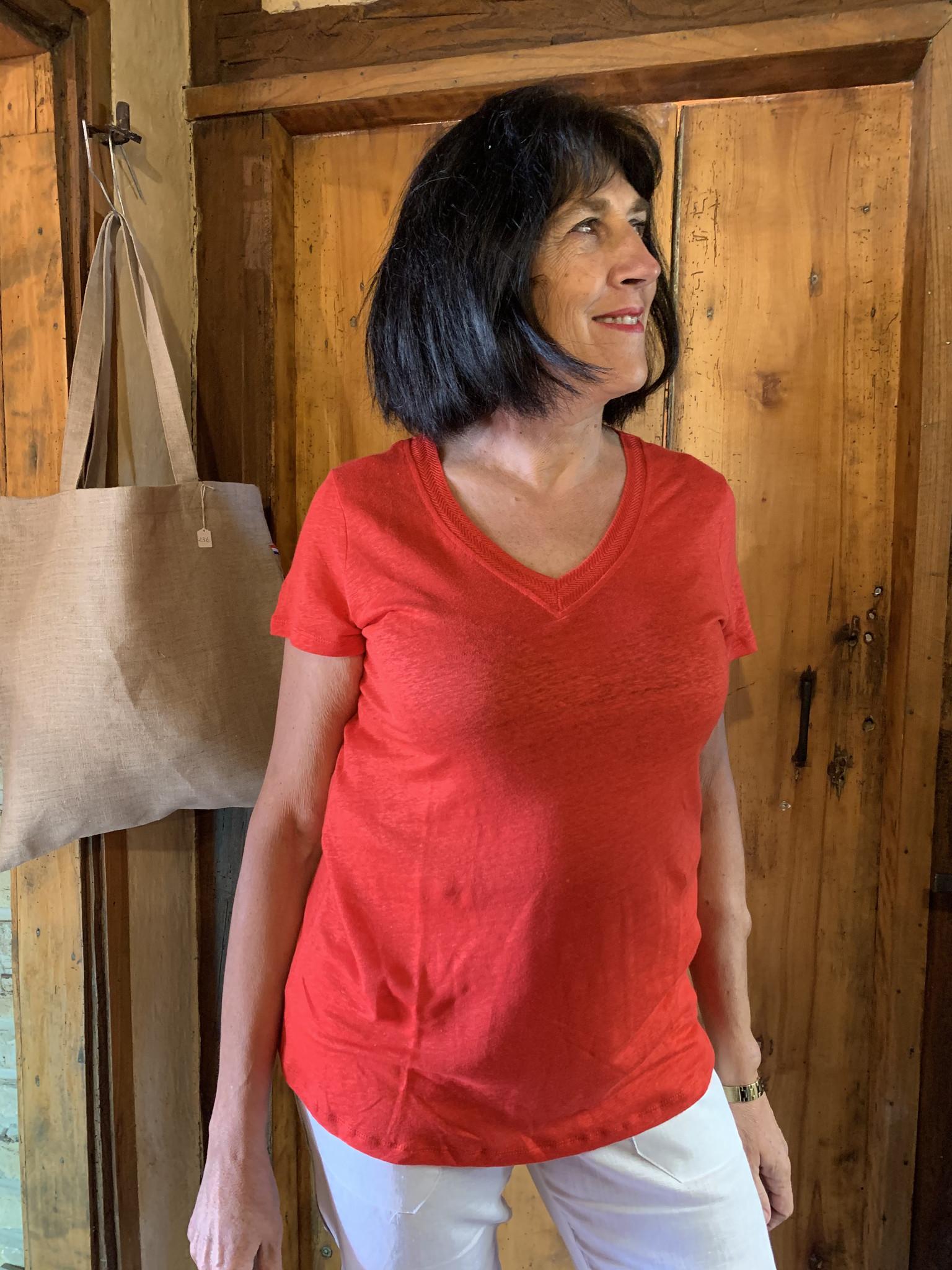 Maloka T-shirt mattea rouge