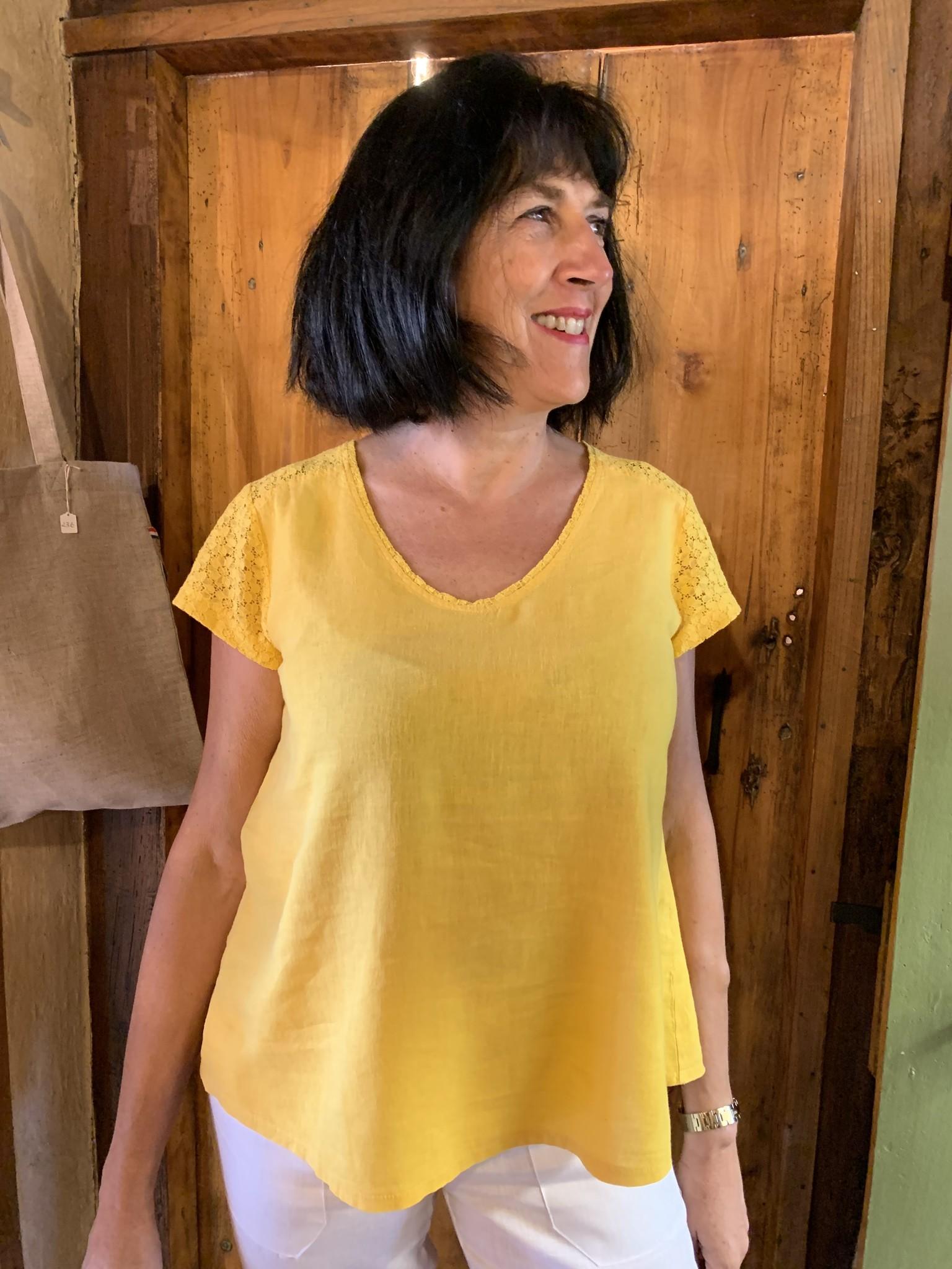Maloka Top abria jaune