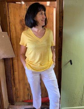 Maloka T-shirt mattea jaune