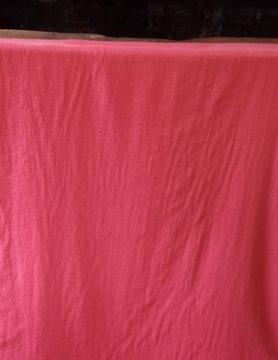 Linnen stof gewassen rood grote breedte