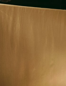 Linnen stof gewassen mosterd grote breedte