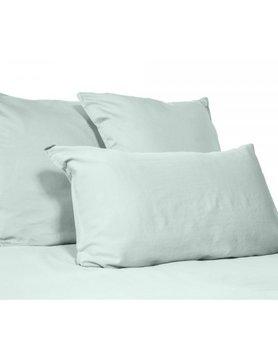 taie d'oreiller en lin lavé celadon