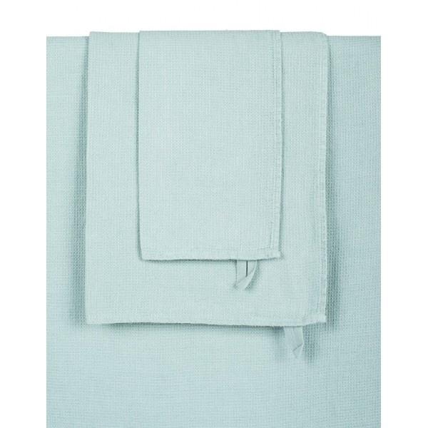 celadon coloured bath towel