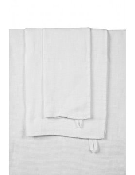 serviette de bain lin blanc