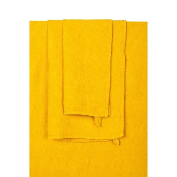 saffron coloured bath towel