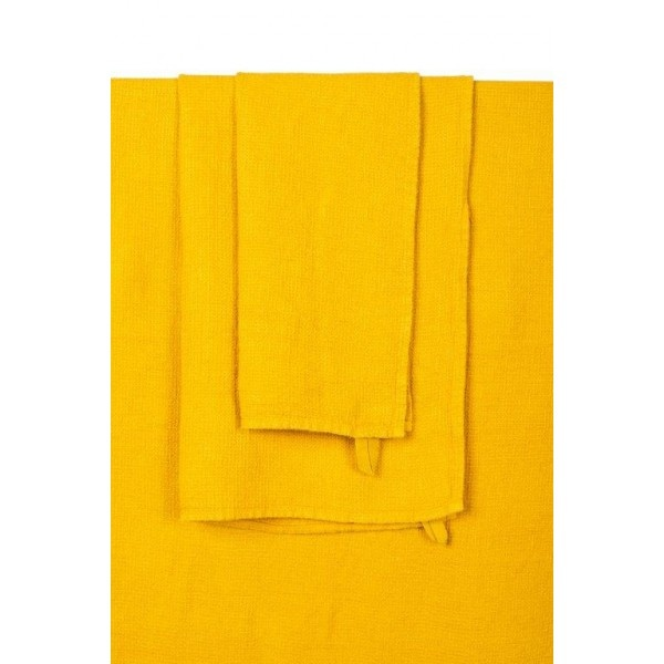 serviette de bain couleur safran