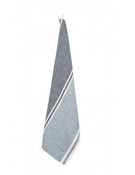 Treviso tea towel pure linen blue stone