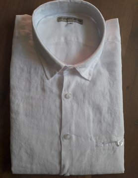 Le grenier du lin Chemise lin  cintrée Wood blanche