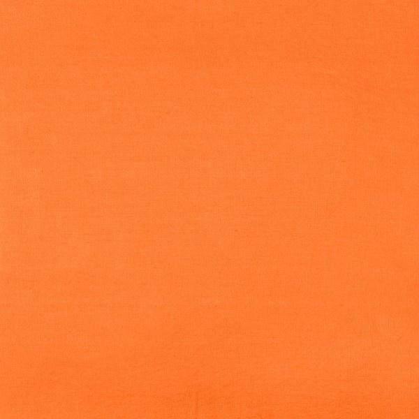 tissu lin stone wash orange paprika