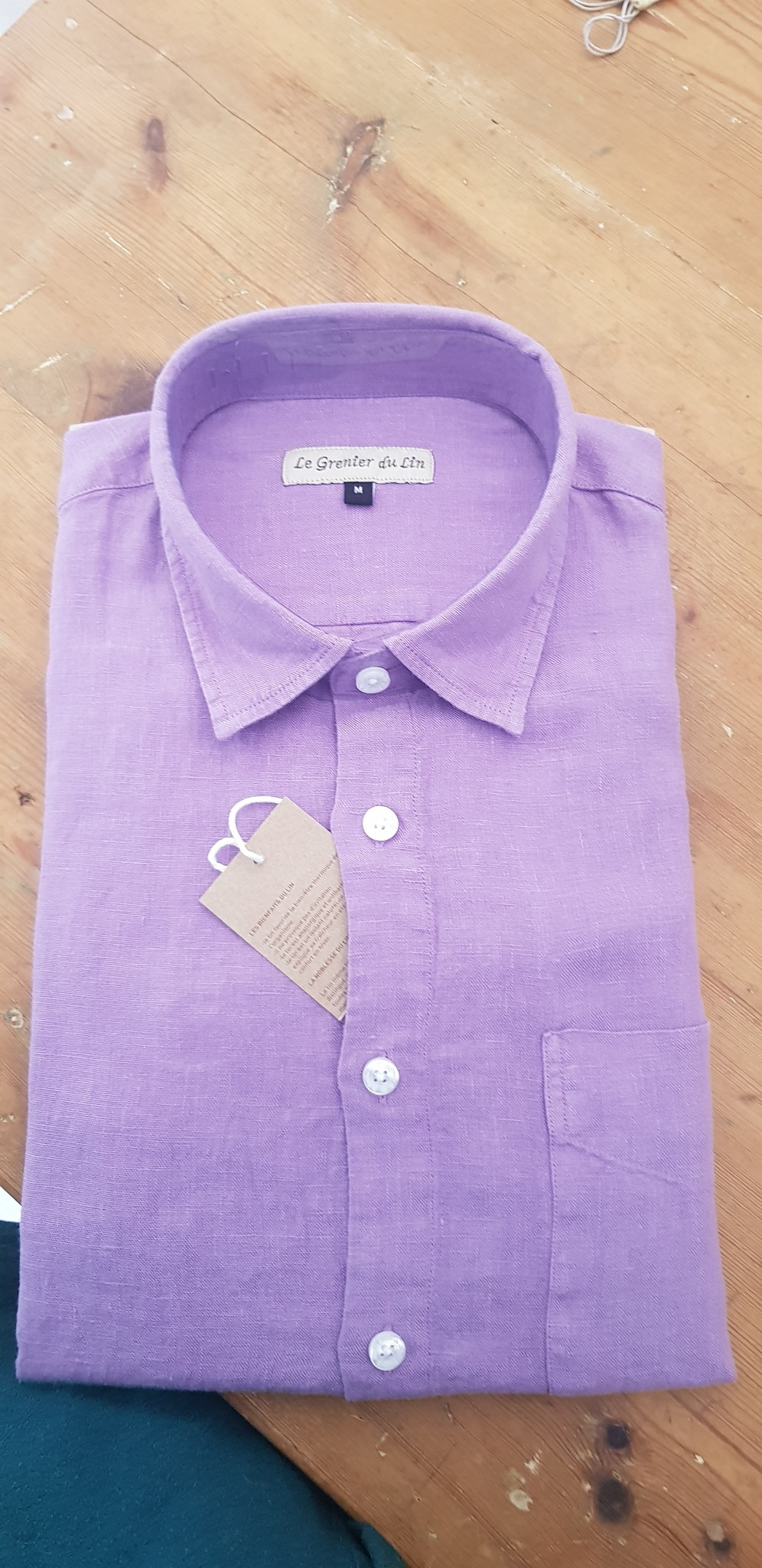 Le grenier du lin Lila shirt met lange mouwen