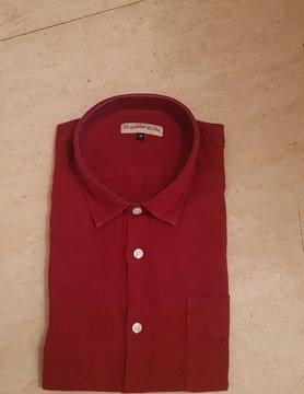 Le grenier du lin Long sleeve shirt garnet