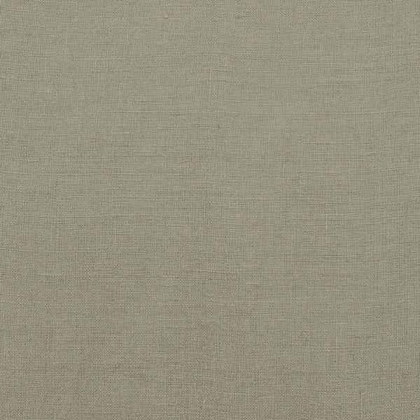 Coated linen fabric khaki