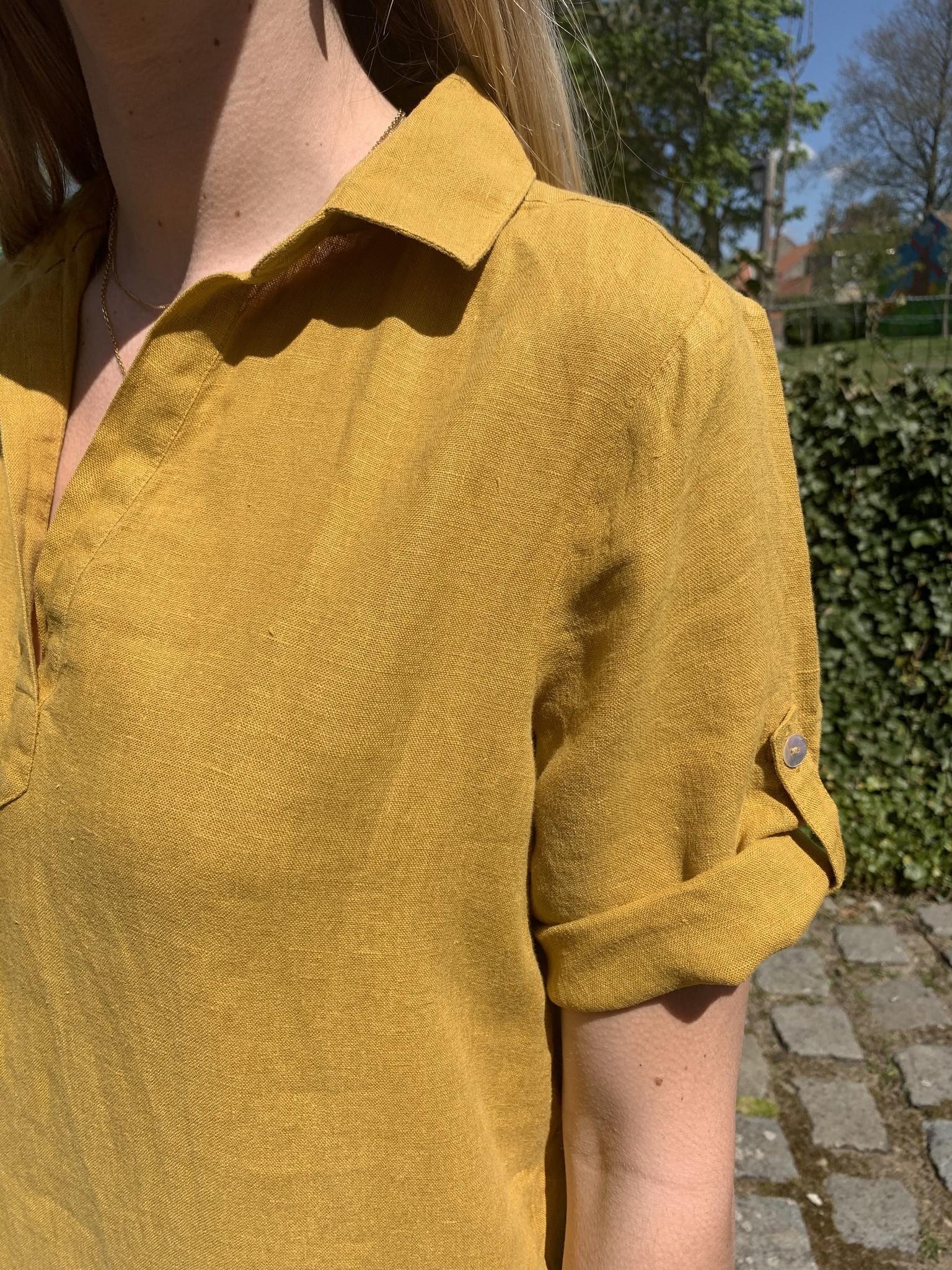 Le grenier du lin Lia saffron yellow colour