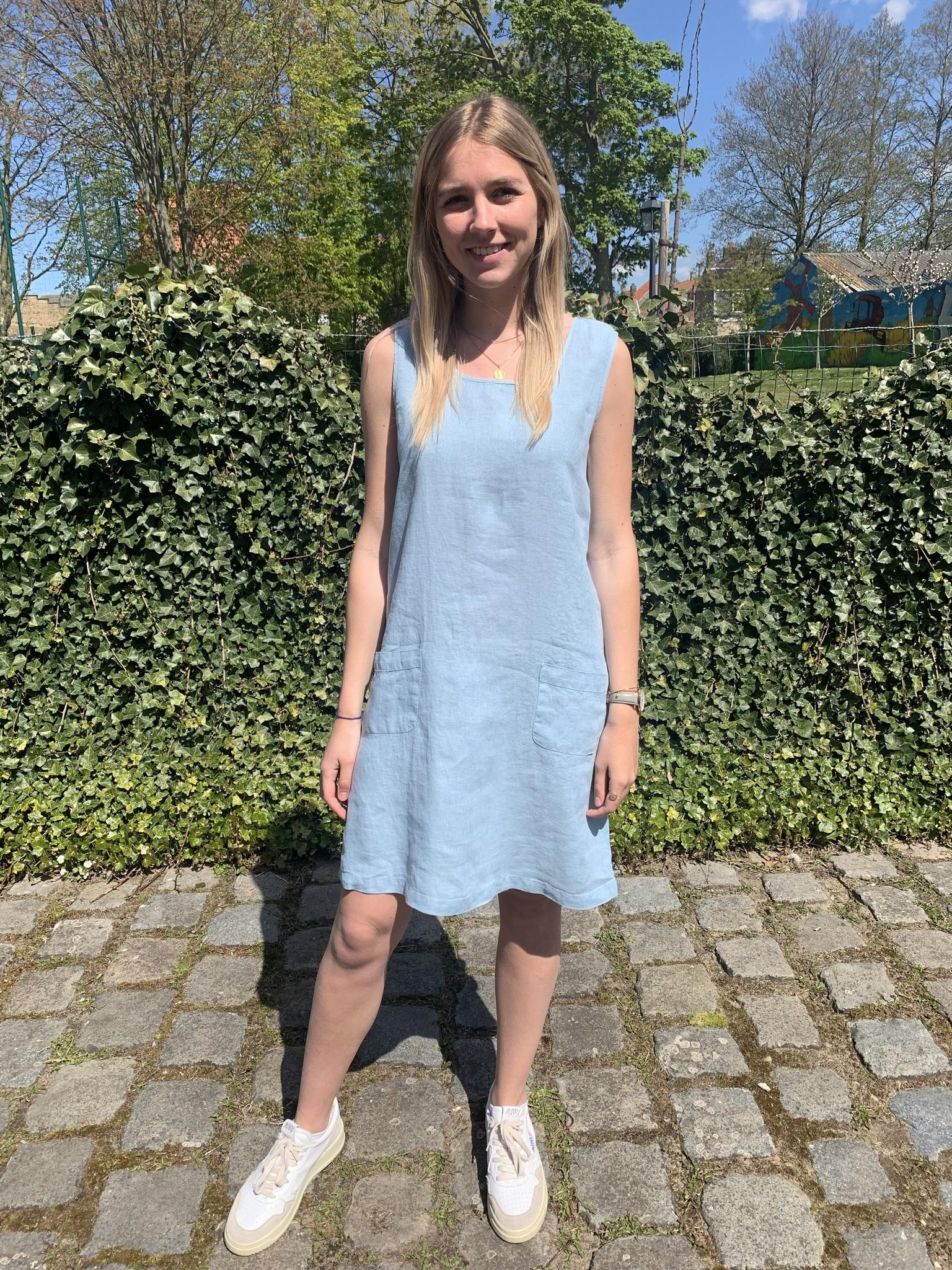 Haiti light blue dress