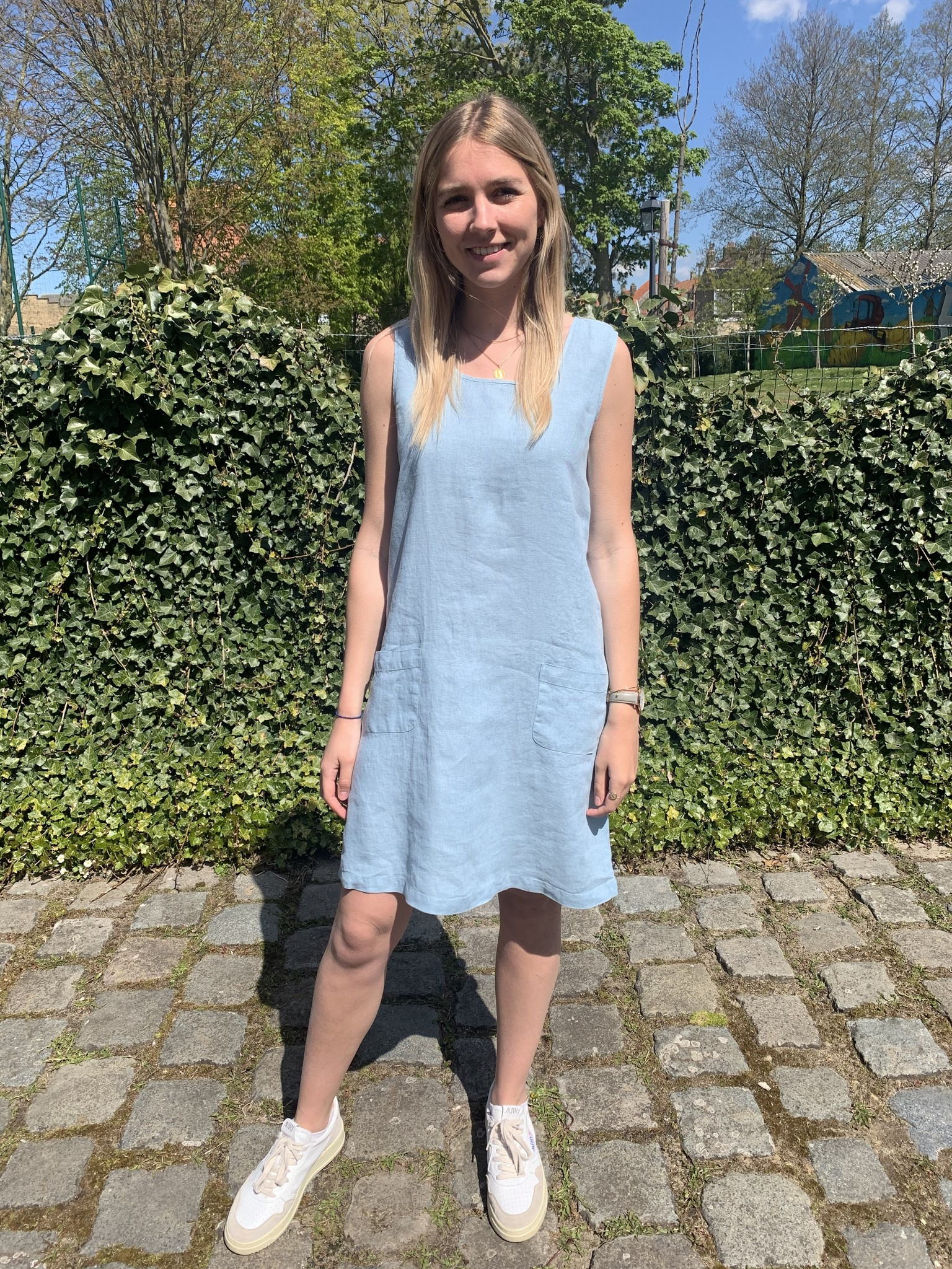 robe Haiti  bleu clair