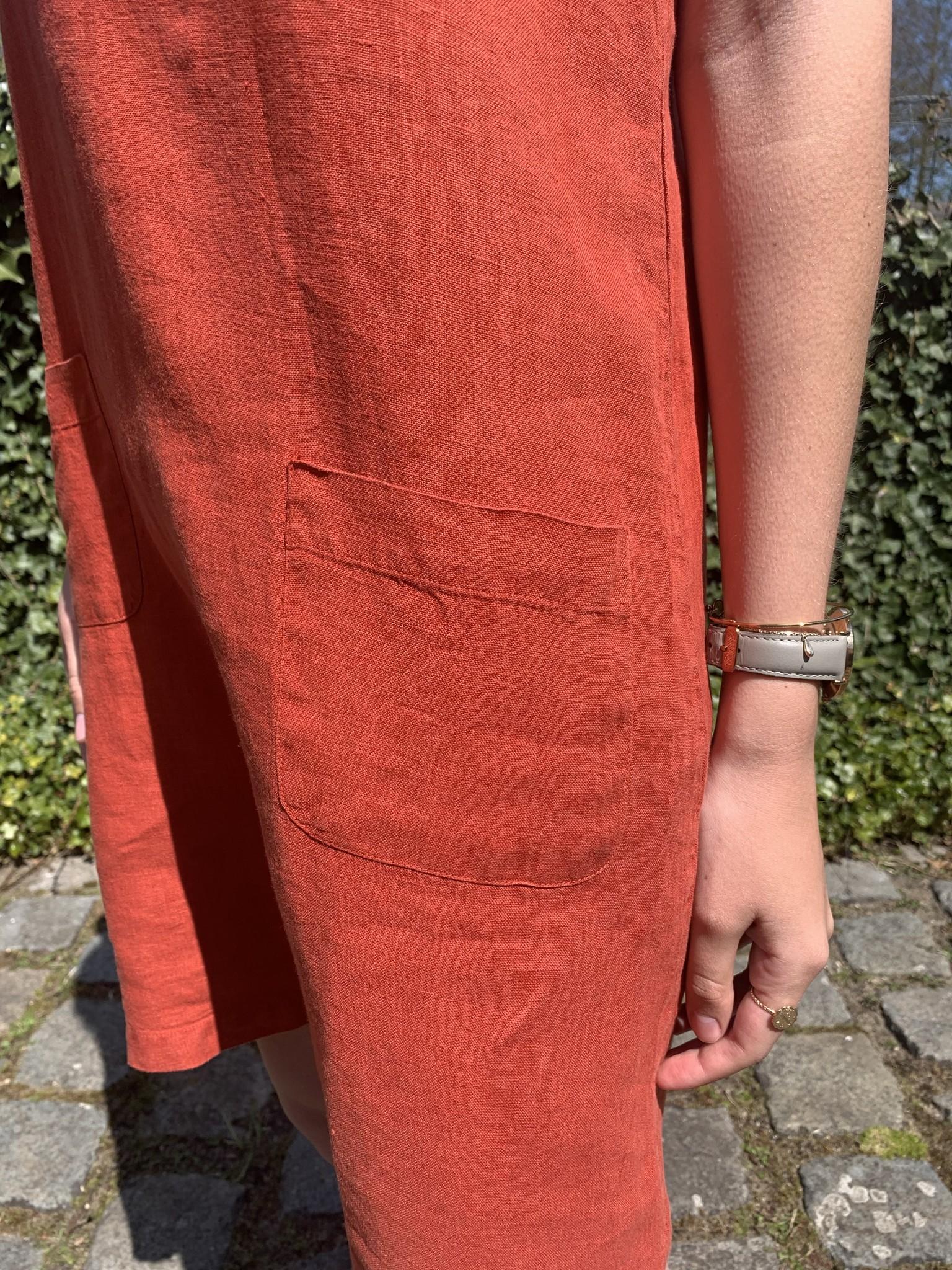 robe Haiti  rouge tomette