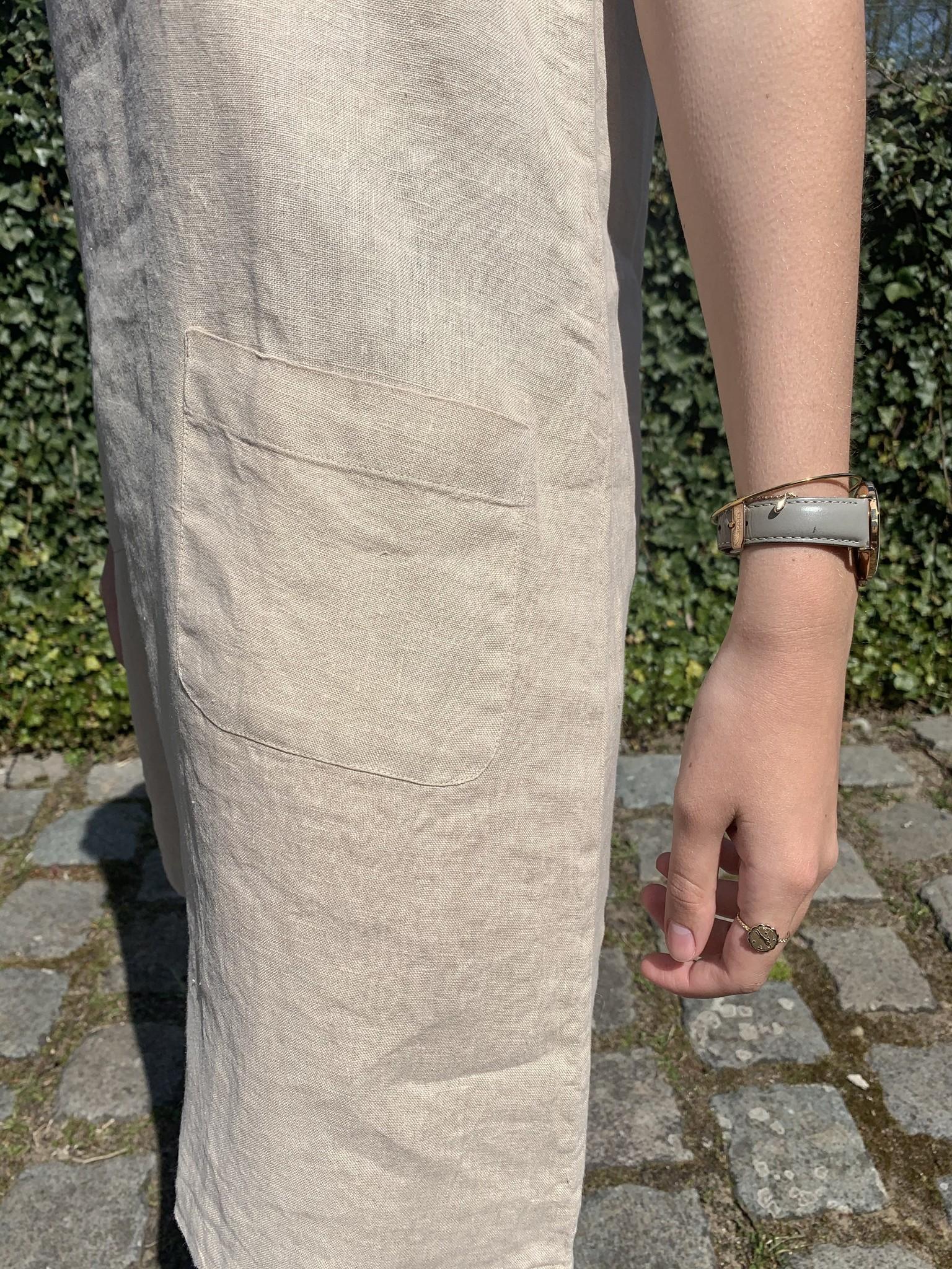 Haiti light beige or natural dress