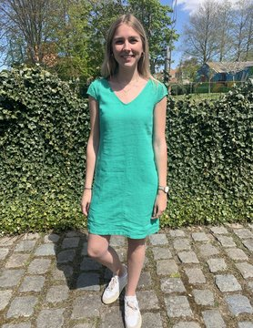 Maloka Celadon groene Reeva jurk