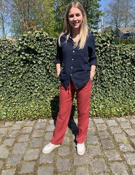 Pantalon femme rouge
