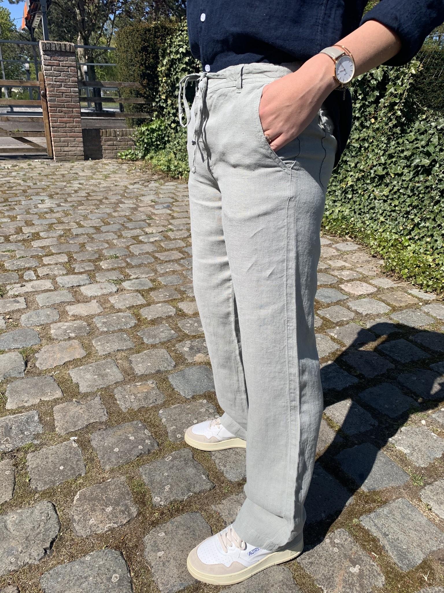 Pantalon femme kaki clair