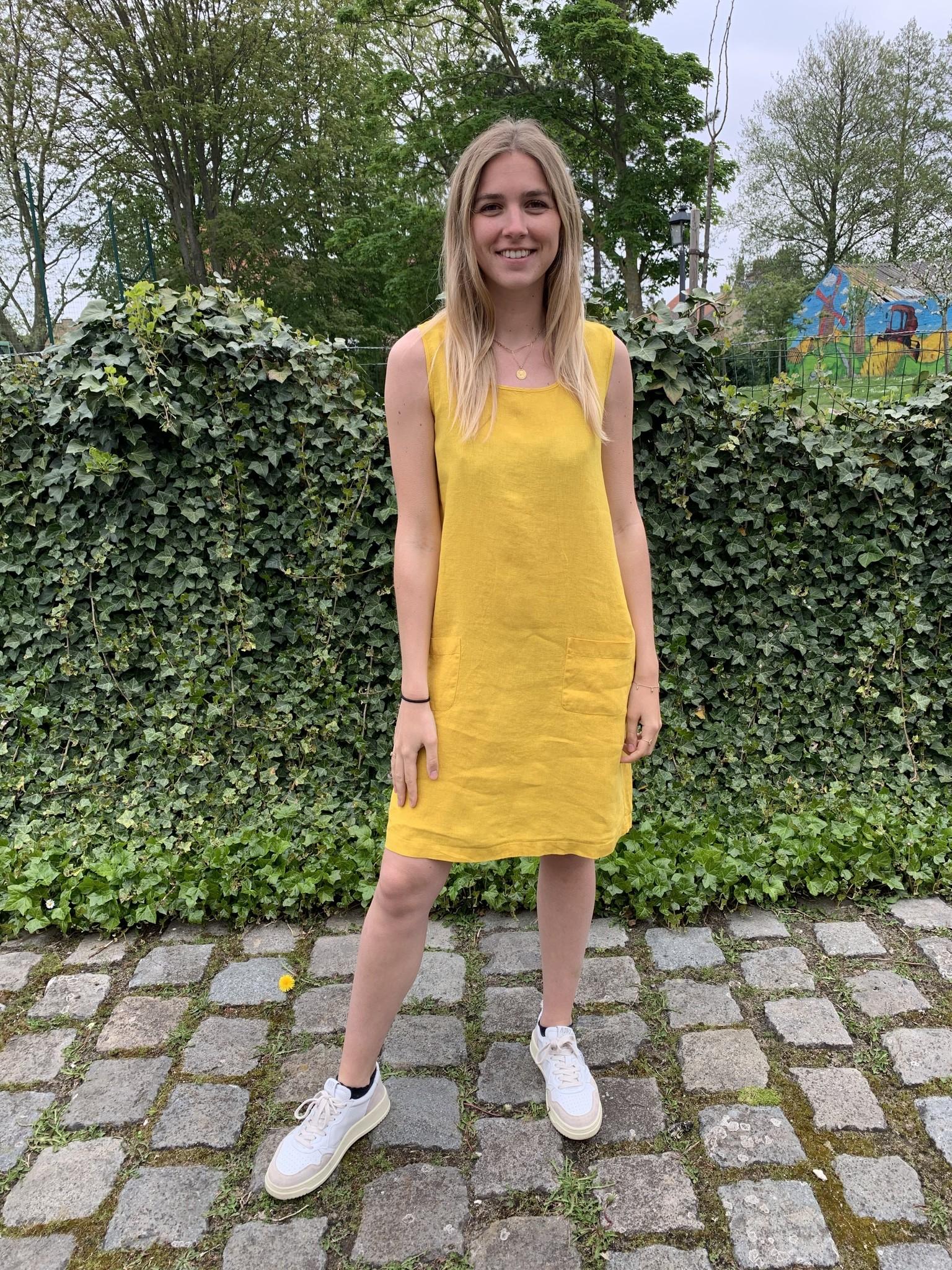 robe Haiti  jaune curry