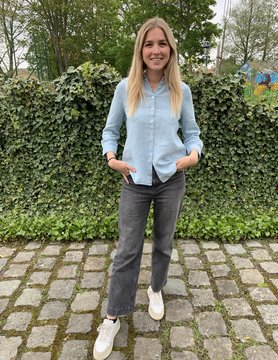 Le grenier du lin 3/4 sleeves light blue pure linen blouse