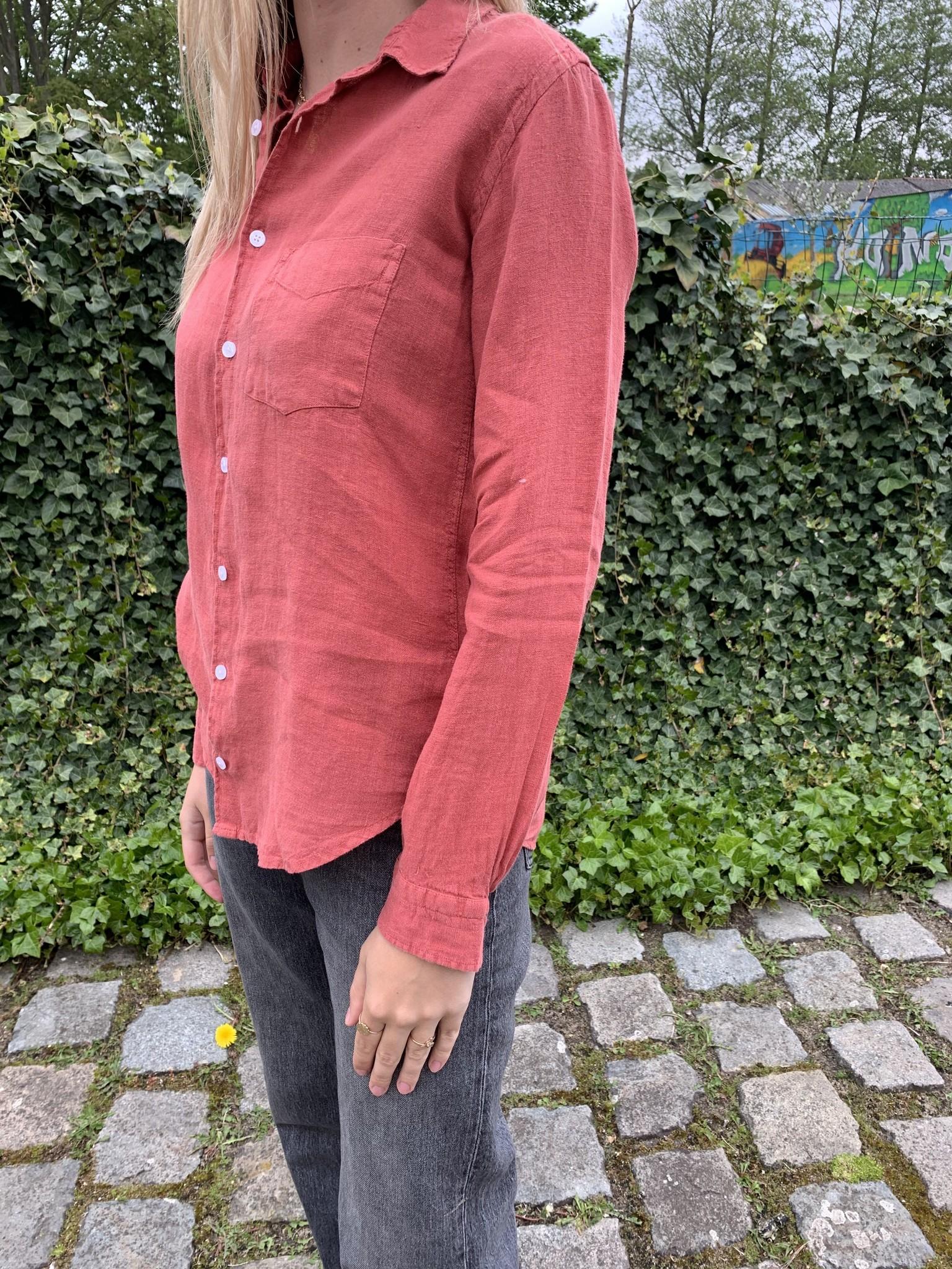 Le grenier du lin Een pocket lychee blousei