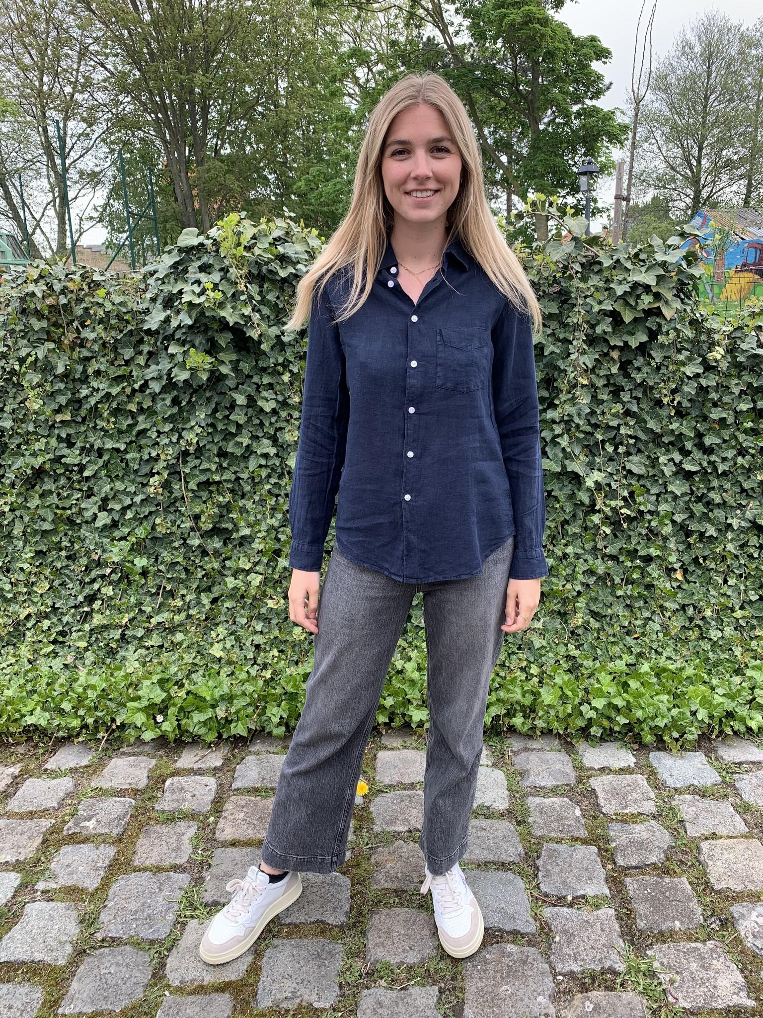 Le grenier du lin blouse with 1 breast pocket
