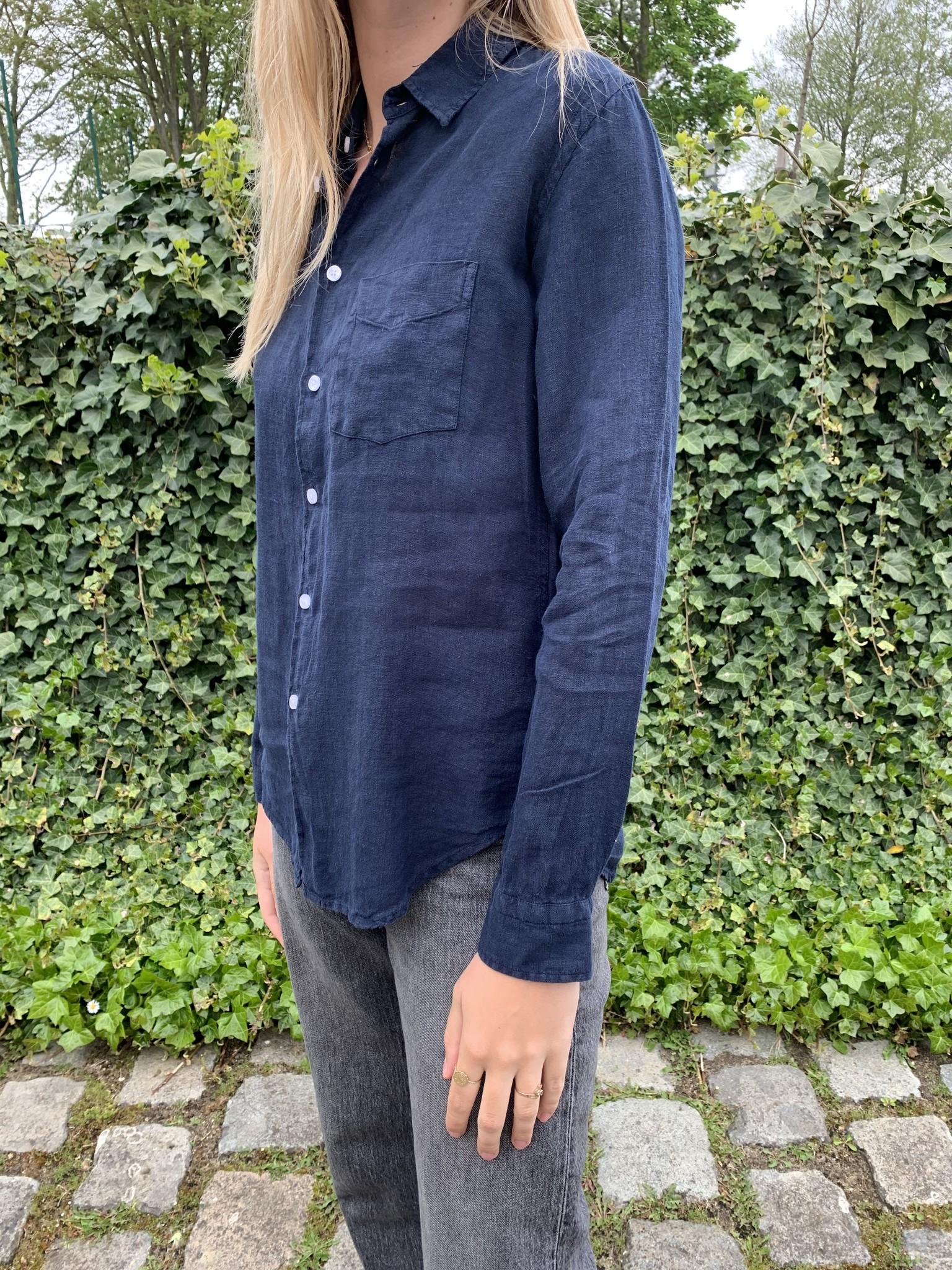 Le grenier du lin blouse met 1 borstzakje