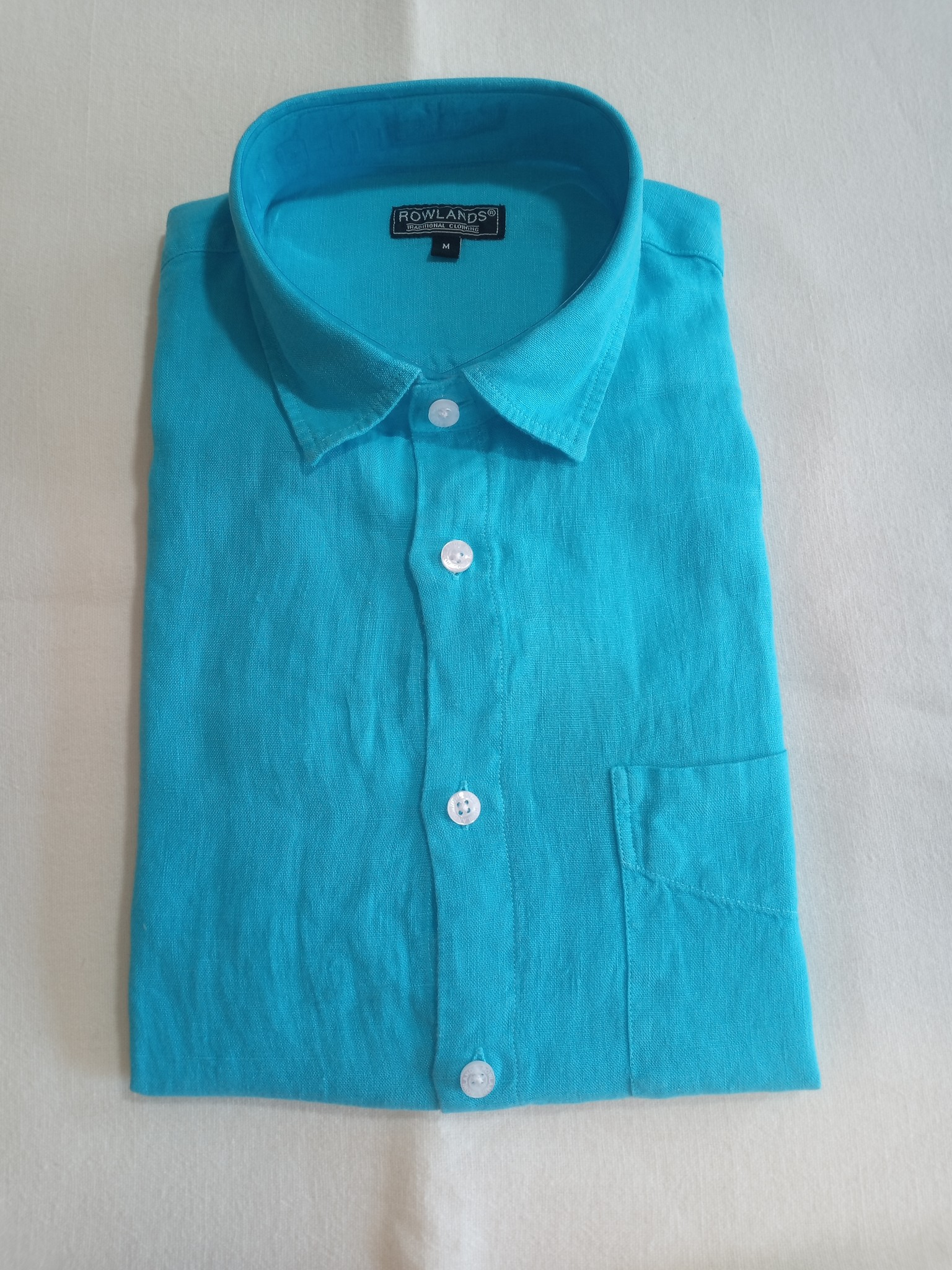 Le grenier du lin Long sleeve linen shirt turquoise