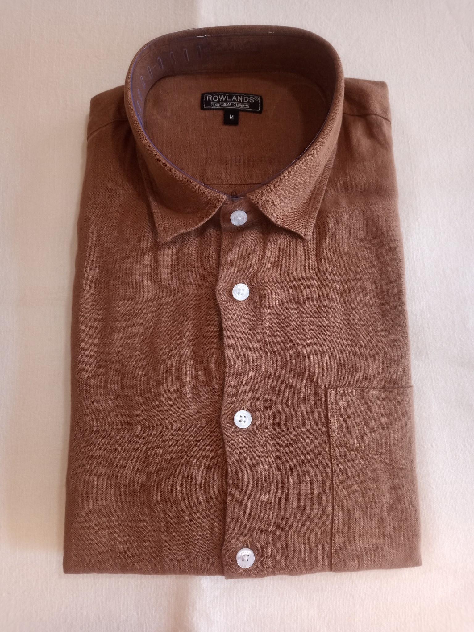 Le grenier du lin Brown long sleeve linen shirt