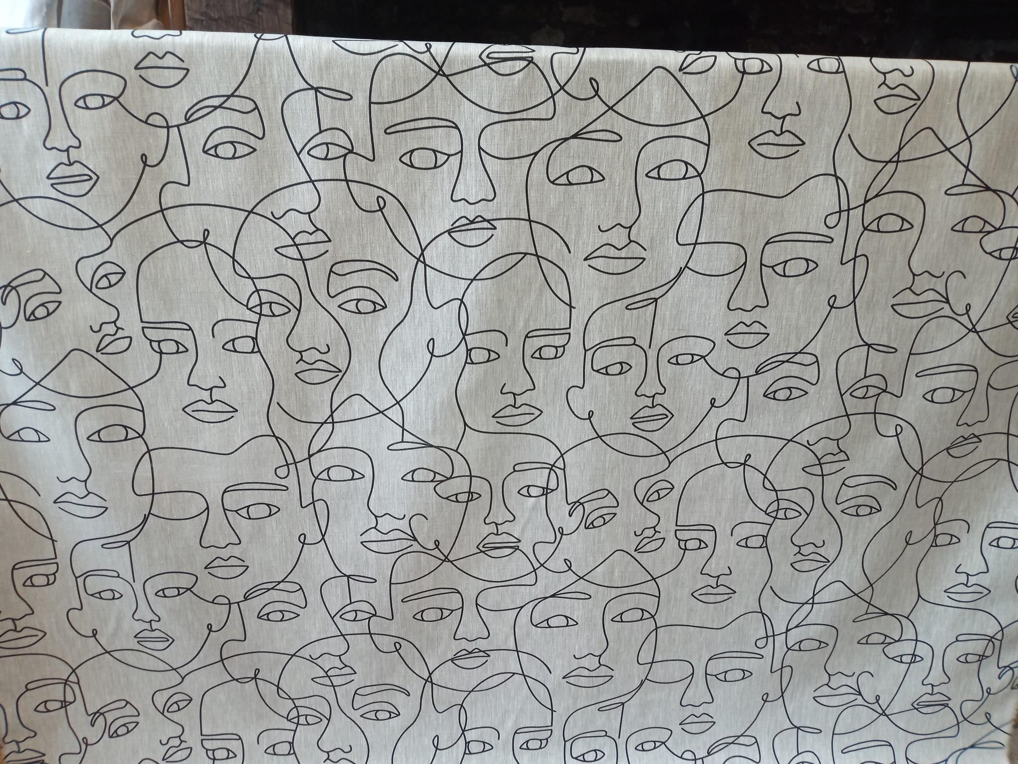 Black face fabric